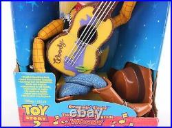 Disney Toy Story 2 Strummin Singing Sheriff Woody 17 Guitar 1999 Mattel READ