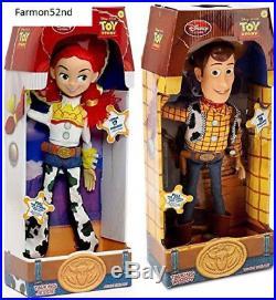 Disney Toy Story 3 Talking Woody and Jessie Dolls 16 NEW
