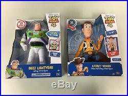 Disney Toy Story 4 Sheriff Woody 14 & BUZZ Lightyear 12 Action Figure Dolls