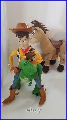 Disney Toy Story Figure Set Toys Woody Buzz Bullseye Rex