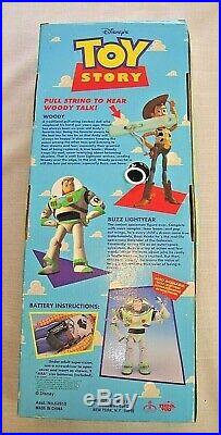 Disney Toy Story Original Pull-string Talking Woody Sheriff Poseable Doll NIB
