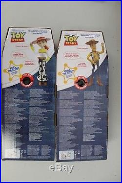 Disney Toy Story Pull String Talking Woody And Jessie Doll Figures Old Version
