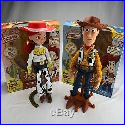 Disney Toy Story Signature Collection Woody and Jessie Deluxe Replica Doll Lot