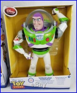 Disney Toy Story TALKING Cowboy Woody + BUZZ Lightyear 16 Action Figure Dolls