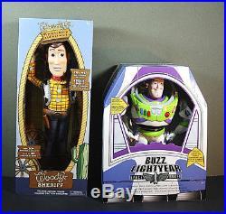 Disney Toy Story TALKING Cowboy Woody & BUZZ Lightyear Action figure Dolls LARGE