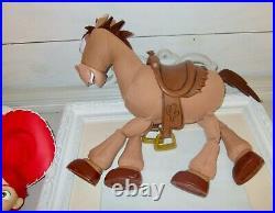 Disney Toy Story Talking Woody Jessie Pull String Doll Bullseye ThinkWay SET Hat