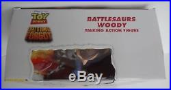 Disney Toy Story The Time Forgot Battlesaurs Woody 12 Talking Doll Figure RARE