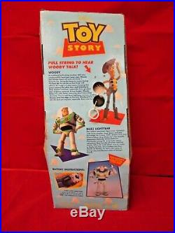 Disney Toy Story Think Way Poseable Pull String Talking Woody Figure Doll 62810
