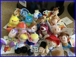Disney Toy Story Tiny Big Feet Plush Dolls-set Of 18-nwt- Woody, Bunny, Ducky+15