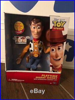 Disney Toy Story WOODY 16 Playtime With Woody Sheriff Cowboy Action Figure Doll