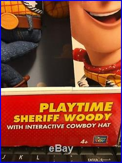 Disney Toy Story WOODY 16 Pull String Talking Sheriff Cowboy Action Figure Doll