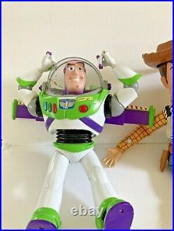 Disney Toy Story Woody 16 Jessie 14 Buzz Lightyear 11 Doll Lot Pixar Pull