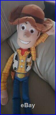 Disney Toy Story Woody Andy 24 dolls Pillows set on wall hanging huge vtg