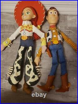 Disney Toy Story Woody, Jessie, Army Men, Buzz, Slinky, Figures ++ Doll Lot