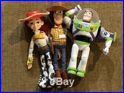 Disney Toy Story Woody, Jessie & Buzz Lightyear Pullstring Please Read Dolls