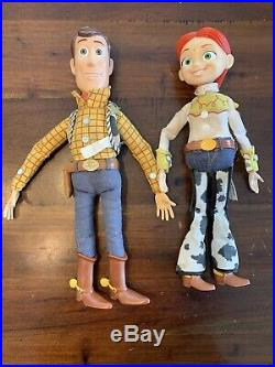 Disney Toy Story Woody & Jessie Pull String Doll Lot Of 2! Untested Pixar