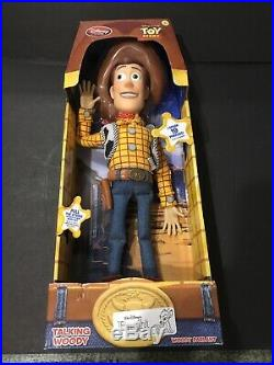 Disney Toy Story Woody Sheriff Pull String Talking Action Figure Doll 16'' New