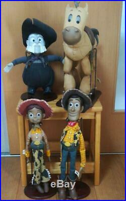 Disney Toy Story Young Epoch Roundup Woody Jessie Set Doll Rare Japan F/S 1