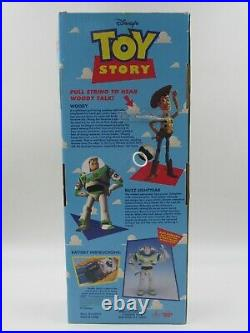Disney's Toy Story Original Poseable Pull String Talking Woody ThinkWay New READ