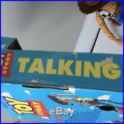 Disney's Toy Story Pull String Talking Woody Doll 1995 Think Way original