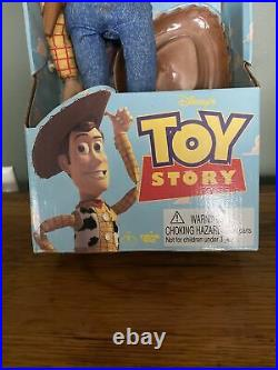 Disney's Toy Story Think Way Toys Pull-String Talking Woody New In Box Works