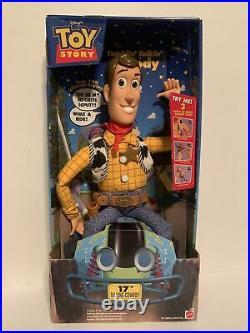 Disney's Toy Story Tumblin' Talkin' Woody 17 Talking Cowboy Doll (NEW)