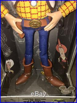 Disneyland Disney D23 Expo 2015 Toy Story Talking Woody Doll LE 400