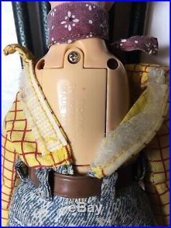 Doll Poupée Figurine Disney Toy Story Woody Parlant Thinkway Toys 1995