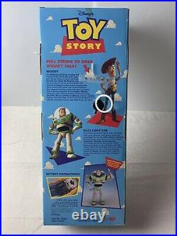First Edition Toy Story Woody Pull-string Talking Doll Thinkway 16 Item #62943