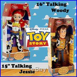GENUINE Disney Pixar Toy Story Woody and Jessie Talking Figure Doll Soft Toy Kid