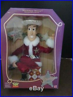 Holiday Hero Woody Toy Story Vintage Mattel 1999 Disney Never Removed From Box