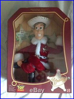 Holiday Hero Woody doll as Santa Holiday Hero Series by Mattel Mint in Box