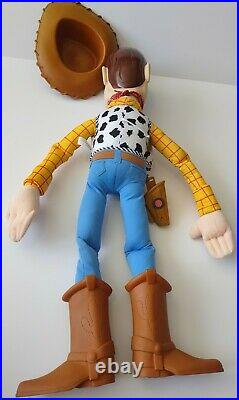 Huge Big Large 32 Woody Doll with Hat Toy Story Plush Disney Pixar Mattel Rare