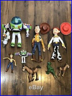Huge Lot Of Disney Toy Story 15 Talking Doll Woody Jessie And Buzz Lightyear