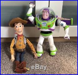 Interactive Buzz Lightyear & Woody Toy Story Disney Pixar Figures Dolls Talking