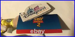 Jumbo Disney Toy Story 2 Cowboy Woody & Cowgirl Jessie Plush Doll Disneyland NWT