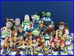 LOT 37 Pixar Toy Story 1 2 3 Plush Doll Toys Woody Buzz Horse Jesse Used Disney
