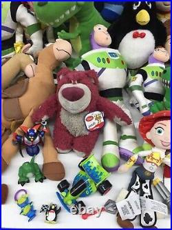 LOT 41 Pixar Toy Story 1 2 3 Plush Doll Toys Woody Buzz Rex Dino Lotso Jesse