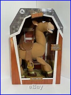 LOT OF 4 Disney Store Toy Story talking dolls Buzz, Woody, Jessie, Bullseye
