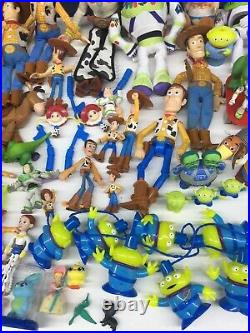 Large LOT 90 Loose Disney Pixar Toy Story Action Figures Dolls Toys Used Woody
