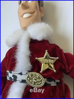 Mattel 1999 Holiday Hero Series Toy Story Woody Figure Doll Christmas Santa hat