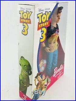 Mattel Disney Toy Story 3 Barbie Ken Doll T2967 New 2009 T2744 Woody Buzz Pixar