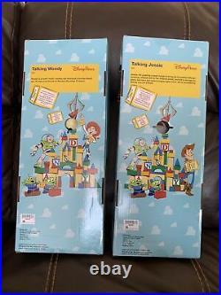NEW Disney Parks Talking Woody & Jessie 16 Dolls Pull String Toy Story Toys