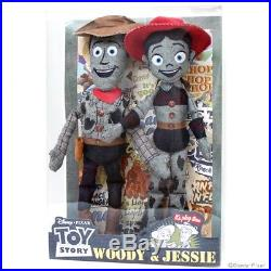 NEW Toy Story × EDWIN denim Plush Doll BOX SET Woody Jessie disneyzone JAPAN
