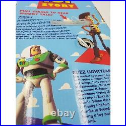 (NEW) Vintage Walt Disney Toy Story Poseable Pull-String Talking Woody