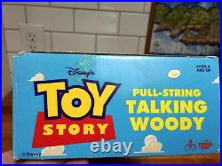 NOSVintage DISNEY TOY STORY WOODY PULL-STRING TALKING DOLLNew In BoxTHINKWAY