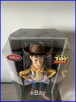 New D23 2015 Disney Store Toy Story 20th Talking Woody Action Figure Doll LE 400