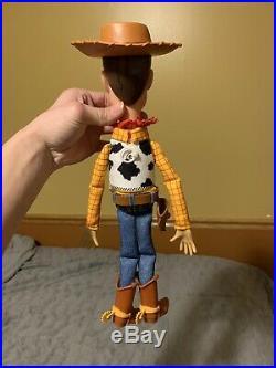 New Disney/Pixar CUSTOM Talking Woody Toy Story Pull String Doll (30 Phrases)