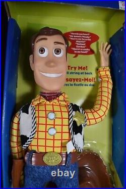 Nos Original Disney Pixar Thinkway Toy Story 16 Pull String Talking Woody Doll