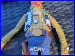 ORIGINAL Thinkway Disney Toy Story 1 Sheriff Woody Large Talking Doll Figure